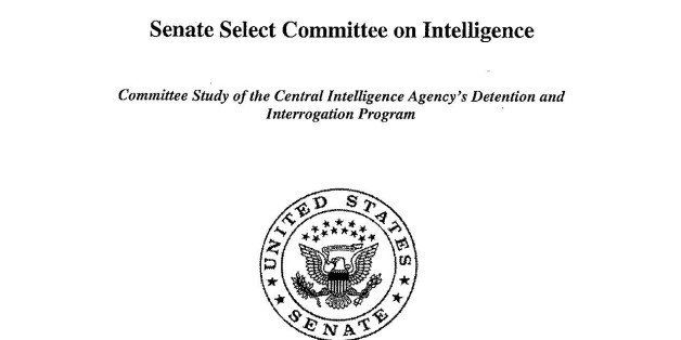 This image shows the cover of the CIA torture report released by Senate Intelligence Committee Chair Sen. Dianne Feinstein D-