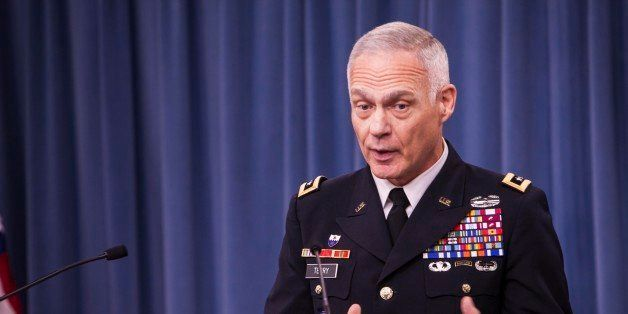 ARLINGTON, VA - DECEMBER 18: US Army Lt. Gen. James L. Terry, commander of the Combined Joint Task Force - Operation Inherent