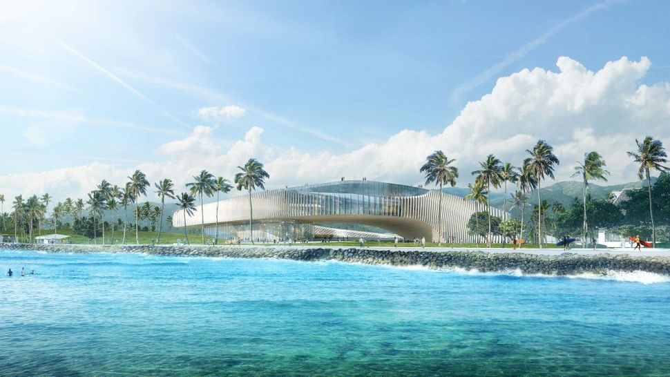 Hawaii's proposal includes building on the edge of a coral reef.
