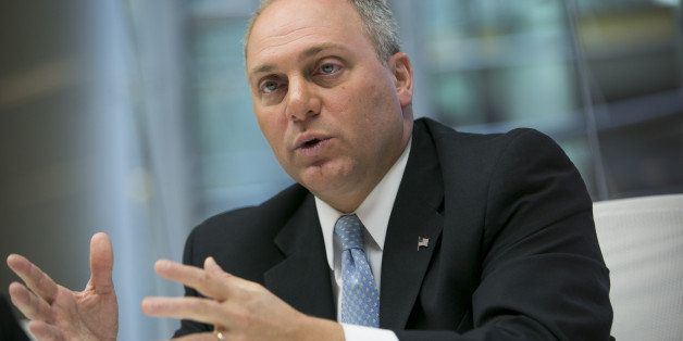 House Majority Whip Steve Scalise, a Republican from Louisiana, speaks during an interview in New York, U.S., on Wednesday, O