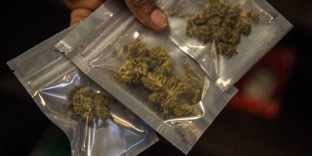 WASHINGTON, DC - OCT10:  Medical marijuana is dispensed at the Takoma Wellness Center, October 10, 2014, in Takoma Park, DC.
