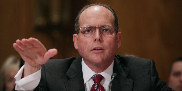 WASHINGTON, DC - APRIL 30: Central Intelligence Agency Inspector General David Buckley testifies before the Senate Homeland S