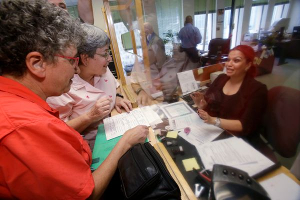 Deborah Shure and Aymarah Robles also applied for a marriage license in Miami.