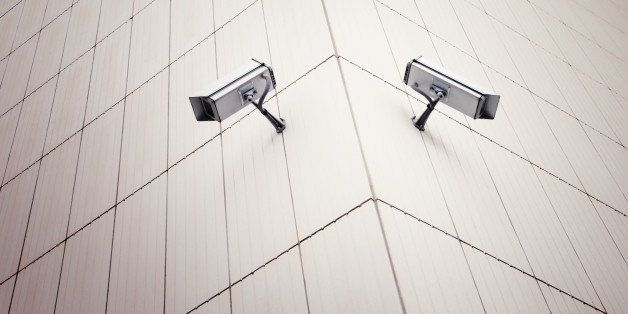 white security camera devices...
