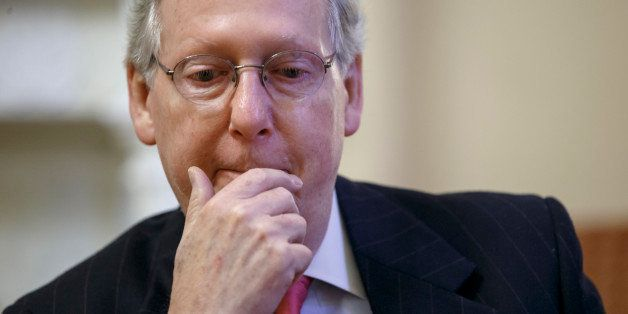 Incoming Senate Majority Leader Mitch McConnell, R-Ky., talks about his agenda for a GOP-controlled Congress during an interv
