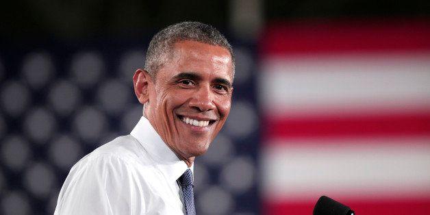 WAYNE, MI - JANUARY 7:  U.S. President Barack Obama speaks at the Ford Michigan Assembly Plant January 7, 2015 in Wayne, Mich