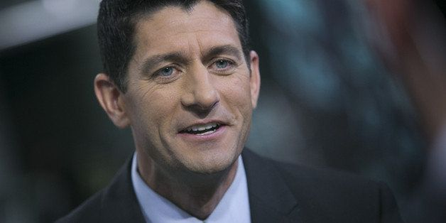 U.S. Representative Paul Ryan, a Wisconsin Republican, speaks after a Bloomberg Television interview in New York, U.S., on We