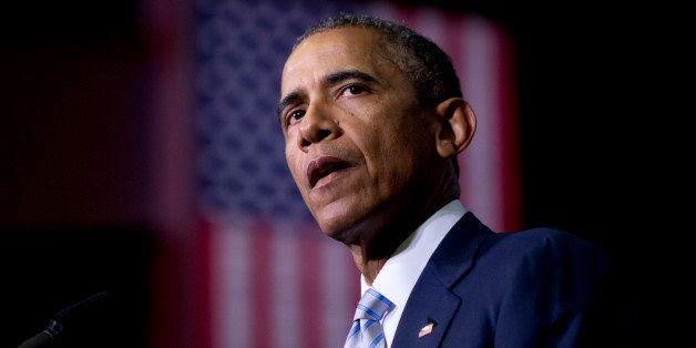 President Barack Obama speaks about the France newspaper attack, Friday, Jan. 9, 2015, at Pellissippi State Community College