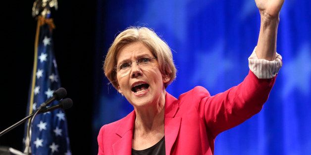SPRINGFIELD, MA - JUNE 2: Elizabeth Warren speaks during the 2012 Massachusetts Democratic Endorsing Convention, held at the