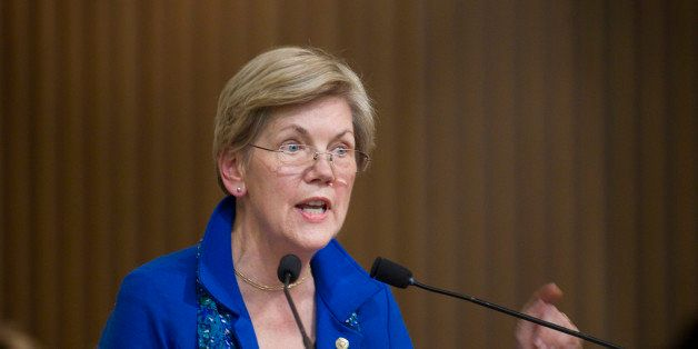 BOSTON - JANUARY 11: U.S. Senator from Massachusetts Elizabeth Warren received the MLK Leadership Award during the Martin Lut