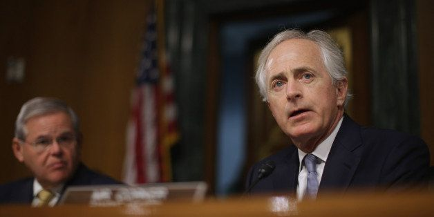 WASHINGTON, DC - DECEMBER 09:  Senate Foreign Relations Committee ranking member Sen. Bob Corker (R-TN) delivers opening rema