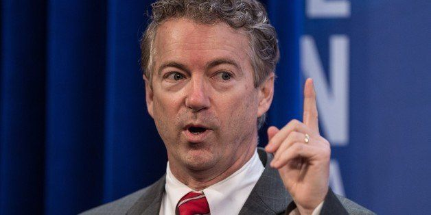 US Republican Senator from Kentucky Rand Paul addresses the 2015 Conservative Policy Summit at the Heritage Foundation in Was