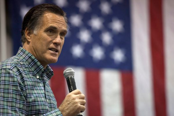 "Romney didn't completely shy away from politics. Starting in <a href=""http://www.washingtonpost.com/blogs/post-politics/wp/20"