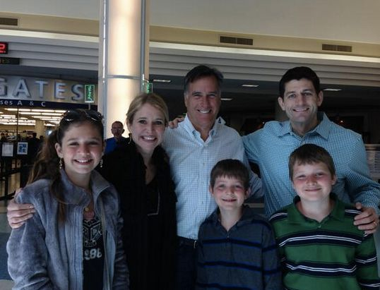 "In March 2014, <a href=""http://talkingpointsmemo.com/livewire/mitt-romney-paul-ryan-airport"" target=""_blank"">Romney crossed p"