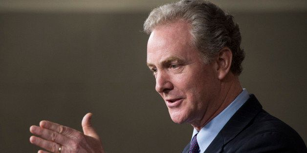 UNITED STATES - APRIL 3: House Budget ranking member Rep. Chris Van Hollen, D-Md., speaks during the press conference with Ho