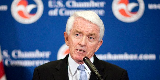 Tom Donohue, president of the U.S. Chamber of Commerce, speaks at a summit on jobs in Washington, D.C., U.S., on Wednesday, J