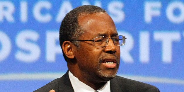 DALLAS, TX - AUGUST 29: Dr. Ben Carson speaks at the Defending the American Dream Summit sponsored by Americans For Prosperti