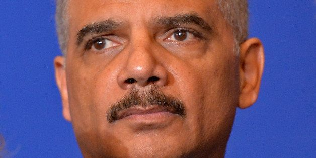 PARIS, FRANCE - JANUARY 11:  United States Attorney General Eric Holder attends a press conference in the presence of the oth