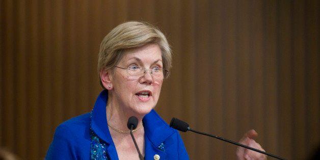 BOSTON - JANUARY 11: U.S. Senator from Massachusetts Elizabeth Warren received the MLK Leadership Award during the Martin Lut