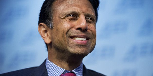 UNITED STATES - OCTOBER 6: Louisiana Gov. Bobby Jindal (R) delivers a speech at the American Enterprise Institute titled 'Reb