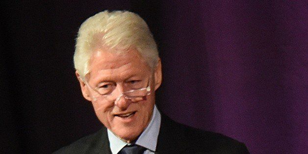 ATLANTA, GA - JANUARY 17:  Former President of the United States Bill Clinton gives the keynote address at the HOPE Global Fo