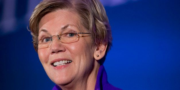 Sen. Elizabeth Warren, D-Mass. speaks to the Center for American Progress's Second Annual Policy Conference in Washington,