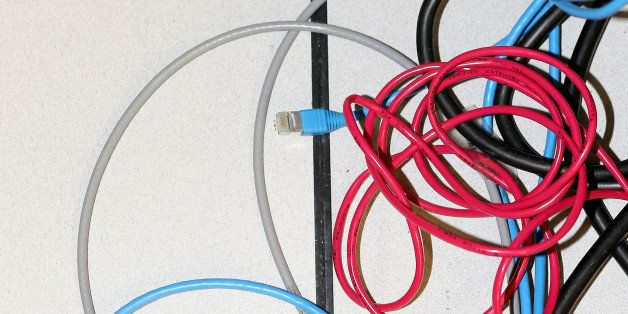 NEW YORK, NY - NOVEMBER 10:  Network cables are plugged in a server room on November 10, 2014 in New York City. U.S. Presiden