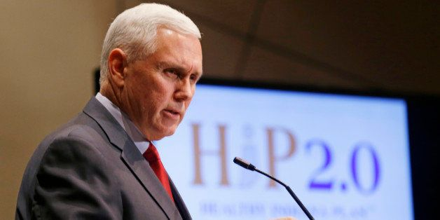 Indiana Gov. Mike Pence announces that the Centers for Medicaid and Medicare Services had approved the state's waiver request