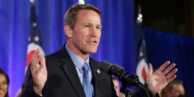 Ohio Secretary of State Jon Husted speaks to supporters at the Ohio Republican Party celebration Tuesday, Nov. 4, 2014, in Co