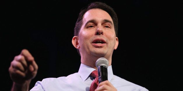 DES MOINES, IA - JANUARY 24:  Wisconsin Gov. Scott Walker speaks to guests at the Iowa Freedom Summit on January 24, 2015 in
