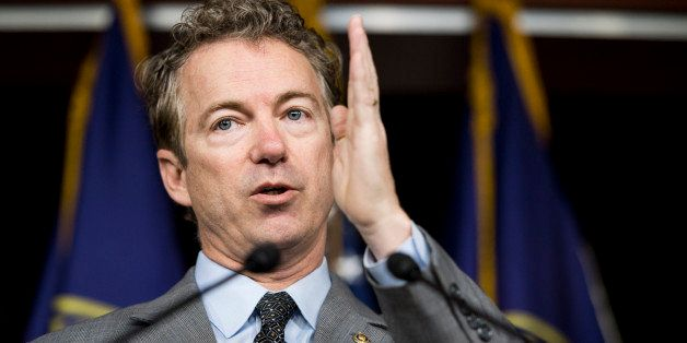 UNITED STATES - JANUARY 27: Sen. Rand Paul, R-Ky., speaks during the news conference to unveil the Fifth Amendment Integrity