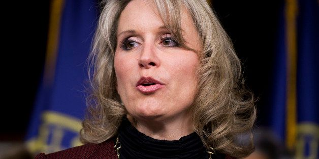 UNITED STATES - JANUARY 27: Rep. Renee Ellmers, R-N.C., speaks during a news conference in the Capitol Visitor Center on legi