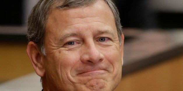 U.S. Supreme Court Chief Justice John Roberts smiles as he is introduced at the University of Nebraska Lincoln, in Lincoln, N