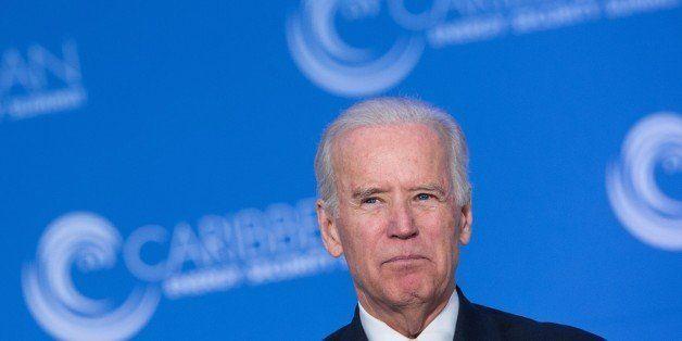 US Vice President Joe Biden addresses the first Caribbean Energy Security Summit in Washington, DC on January 26, 2015.   AFP