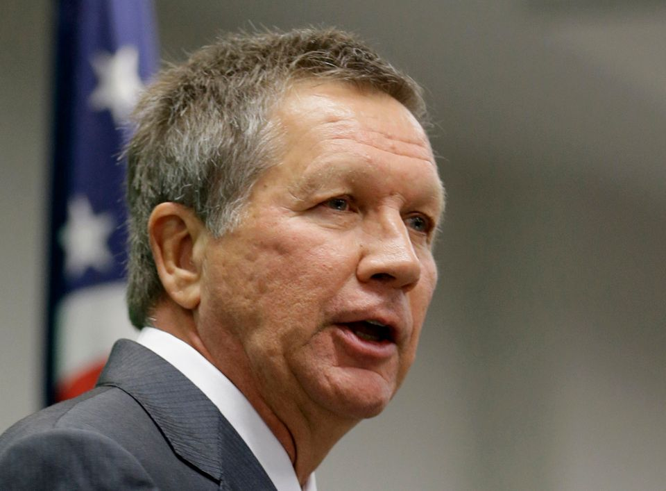 FILE - In this Oct. 18, 2013 file photo, Ohio Gov. John Kasich speaks in Cleveland. Republicans governors running for re-elec