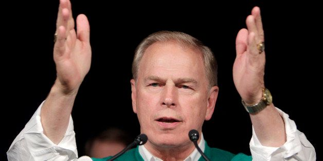 Ohio Governor Ted Strickland thanks supporter during his speech at the Ohio Democratic Party's election night event in Columb