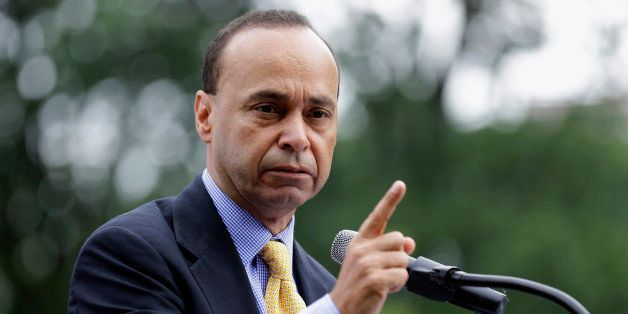 "Rep. Luis Gutierrez, D-Ill, speaks during a ""United we Dream"" rally on Capitol Hill, Wednesday, July 10, 2013 in Washington."