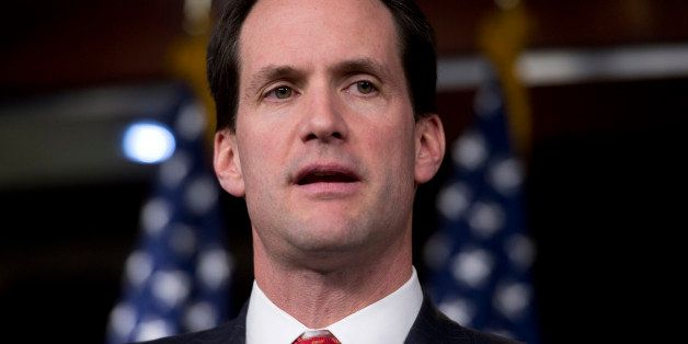 UNITED STATES - NOVEMBER 15:  Rep. Jim Himes, D-Conn., speaks at a news conference with members of the New Democratic Coaliti