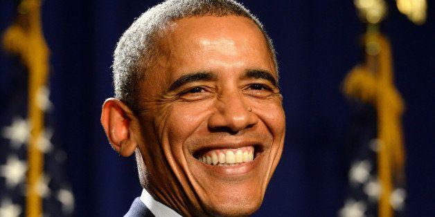 President Barack Obama addresses House Democrats, Thursday, Jan. 29, 2015, in Philadelphia. (AP Photo/The Philadelphia Inquir