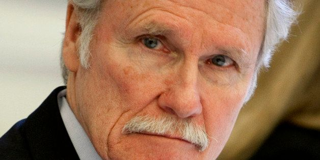 John Kitzhaber, governor of Oregon, waits from the start of a roundtable meeting titled 'Insourcing American Jobs' in the Eis