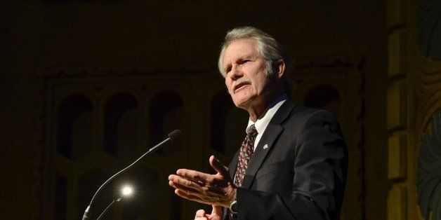 Oregon Governor John Kitzhaber speaks onstage at the Oregon Consular Corps 'Celebrate Trade' event at the Portland Art Museum