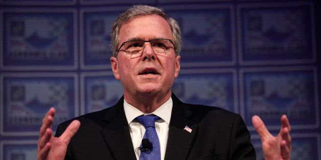 DETROIT, MI - FEBRUARY 4: Former Florida Governor Jeb Bush speaks at the Detroit Economic Club February 4, 2015 in Detroit, M