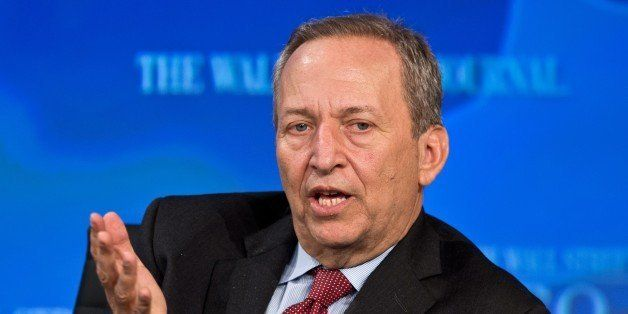 Former US Tresury Secretary Larry Summers addresses the Wall Street Journal CEO Council on November 19, 2013 in Washington,DC