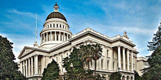 The California State Capitol building, Sacramento, California.