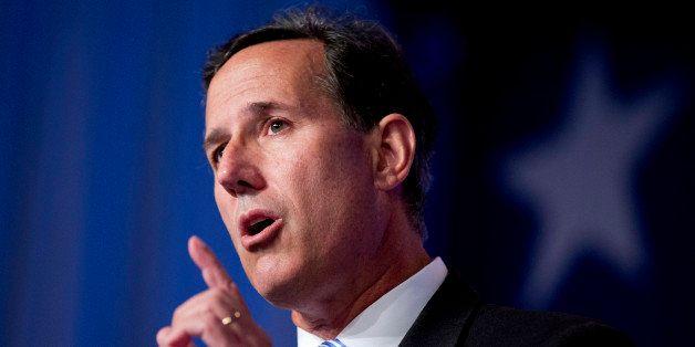 Former Pennsylvania Sen. Rick Santorum speaks at the 2014 Values Voter Summit in Washington, Friday, Sept. 26, 2014. Prospect