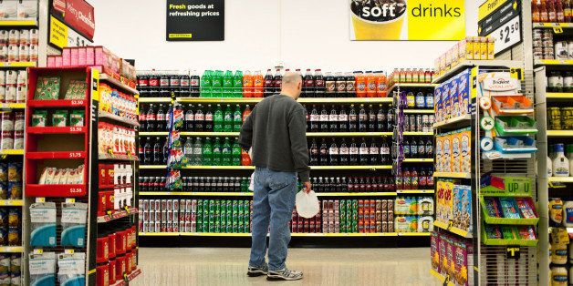 A customer shops in the soda aisle of a Dollar General Corp. store in Saddle Brook, New Jersey, U.S., on Saturday, Dec. 3, 20