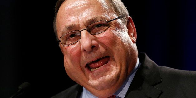 Republican Gov. Paul LePage delivers his inauguration address after taking the oath of office for his second term, Wednesday,