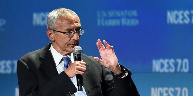 LAS VEGAS, NV - SEPTEMBER 04:  Counselor to President Barack Obama, John Podesta speaks at the National Clean Energy Summit 7