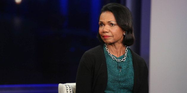 NEW YORK, NY - NOVEMBER 05:  Condoleezza Rice visits 'FOX And Friends' at FOX Studios on November 5, 2014 in New York City.