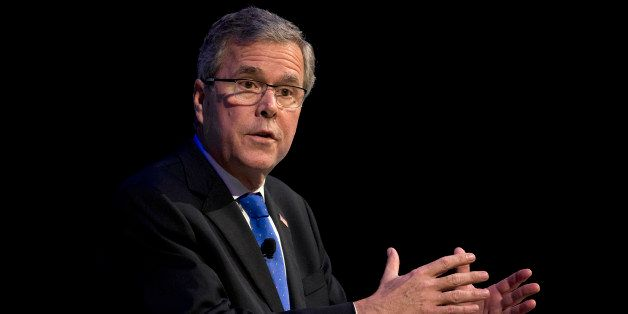 Former Florida Gov. Jeb Bush speaks at a Economic Club of Detroit meeting in Detroit Wednesday, Feb. 4, 2015. The Detroit eve